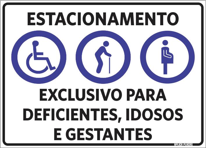 Armario Jardin Carrefour ~ Placa Sinalizaç u00e3o Estacionamento Exclusivo Deficiente Idoso Gestante Aplica Placas
